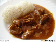 Hovězí na zázvoru a česneku Czech Recipes, Ethnic Recipes, Goulash, 20 Min, Curry, Beef, Food Ideas, Recipes, Cooking