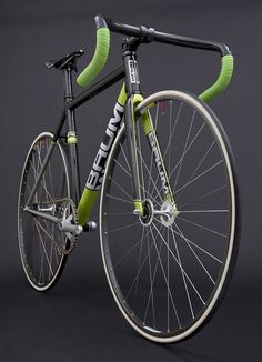 GTR Metallic Black, Venom Green, Corretto Track bike || by Baum Cycles, via Flickr