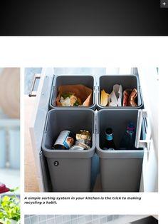 Recycling organizer- must have bottle bin