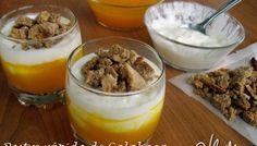Vasitos Dukan de calabaza, yogur y galleta (Crucero)