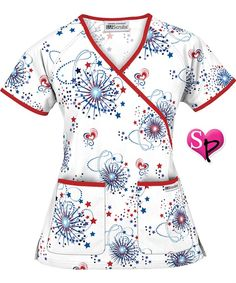 of July Scrubs Scrubs Outfit, Scrubs Uniform, Scrubs Pattern, Stylish Scrubs, Cute Scrubs, Underwear Pattern, Medical Scrubs, Scrub Tops, Work Attire