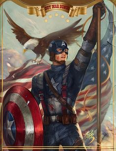 Creative Comic Illustrations by Yang Fan ~ okay seriously, this guy is the best! Captain America..
