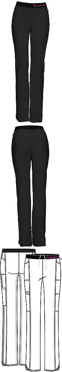 Bottoms 105422: Black Heartsoul Scrubs Low Rise Pull On Pants 20101A Bckh Antimicrobial -> BUY IT NOW ONLY: $33.48 on eBay!