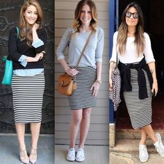 Wie Style Up your Stripped Rock Outfit – Women Trends Rock Outfits, Modest Outfits, Skirt Outfits, Modest Fashion, Love Fashion, Fall Outfits, Casual Outfits, Cute Outfits, Fashion Looks