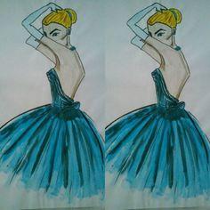 More than one year ago... #afterhaydenwilliams #girl #illustration #fashionillustration #woman #blue #haydnwilliams #painting