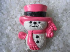 Vintage Avon wee willy winter snowman perfume glace pin pal. $7.00, via Etsy.