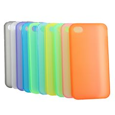 Transparent Silica Gel Protective Soft Case For iPhone 4 4S