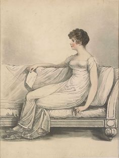 Adam Buck, Mary Anne Clarke on a couch, 1809