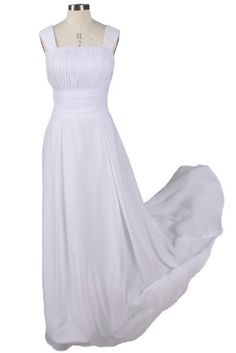 Sunvary Chiffon Straps Bridesmaid Dress Cocktail Party Dress for Christmas (14, Long White) AMS055 Sunvary http://www.amazon.com/dp/B00HH7DM3Q/ref=cm_sw_r_pi_dp_8gTkub197BGMN
