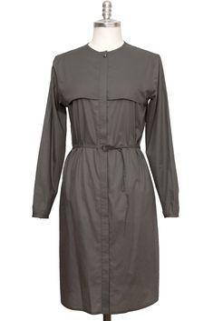 grey casual blouse dress made of extra fine cotton - Sveekery Berlin Business Mode, Ethical Fashion Brands, Vegan Fashion, Blouse Dress, Dress Making, Luxury Branding, Berlin, Organic Cotton, Silk
