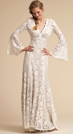 Courtesy of BHLDN Wedding Dresses; Wedding dress idea.