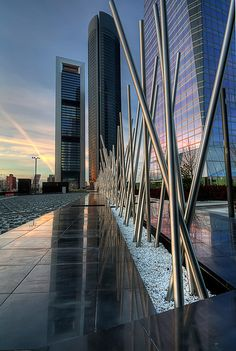 New business area at the Paseo de la Castellana boulevard. Madrid.