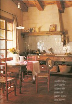 Inspiration Unfit Kitchen. European Rustic Farmhouse. True open shelves and no standard  kitchen cabinets.