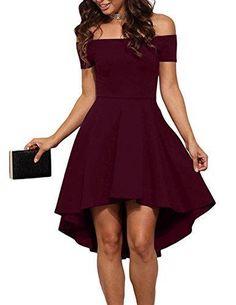 Oferta: 4.99€ Dto: -85%. Comprar Ofertas de Vestido negro para Mujer Corto Largo Skater Moderno Sin Hombros barato. ¡Mira las ofertas!