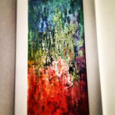 "Abstract painting, abstract art, ""Spring on fire"""
