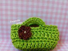 Tecendo Artes em Crochet: Mine Bolsinhas!