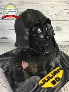Star Wars Darth Vader cake by Love2bake- Oct 2020 Cake Business, Cake Makers, Novelty Cakes, Homemade Cakes, Plymouth, Star Wars, Birthday Cake, Darth Vader, Baking