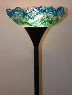 What to do with those leftover Mardi Gras beads? Make a lampshade.  Tutorial is here:  http://www.hgtv.com/decorating/mardi-gras-bead-floor-lamp/index.html