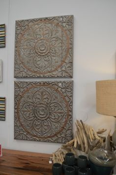 Heavy metal! Pressed tin wall art creates bohemian style to your room. The General Store, Osborne Park
