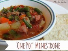 One Pot Minestrone Soup