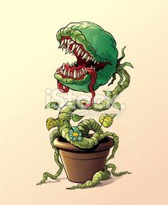 carnivorous plant vector - Buscar con Google