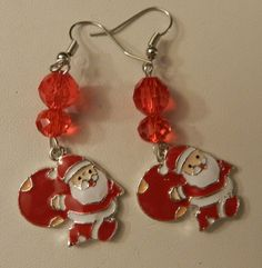 0b18de2ce Christmas Santa Holiday Silver Earrings V3 by JnJgifts, $6.40 USD Mothers  Day Special, Halloween. Zibbet