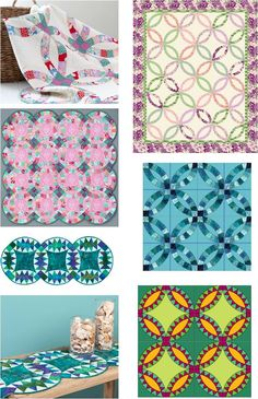 Free patterns for wedding ring quilts: Quilt Inspiration January 28, 2013