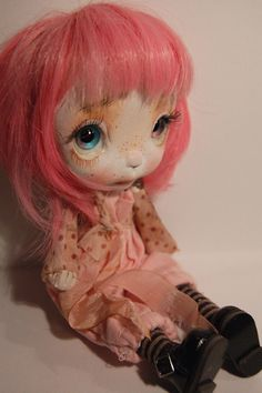 Mily art doll OOAK by ppinkydollsart on Etsy