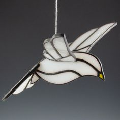 3D Dove Suncatcher Stained Glass Bird. $30.00, via Etsy.
