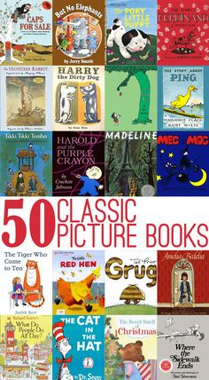 50 Great Classic Picture Books (from Your Own Childhood) to Read Aloud with Children of All Ages.