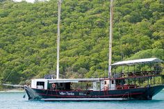 Willie T's Floating Bar/Restaurant Norman Island BVI - great Fish & Chips and Chicken Roti - been there!