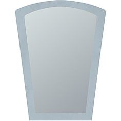 overstock this large frameless wall mirror features a unique sandblasted border