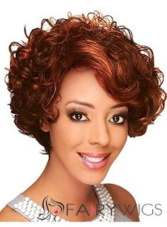 2013 Fashion Trend Short Wavy Red African American Lace Wigs for Women 8 Inch Red Curly Wig, Red Wigs, Short Hair Wigs, Short Hair Styles, Curly Hair, Zury Wigs, Cheap Wigs Online, Red Lace Front Wig, Best Lace Wigs