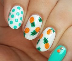 Cute pineapple nails