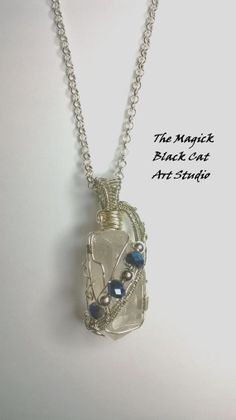 Crystal Quartz Point Wire Wrapped Pendant by themagickblackcat, $27.00