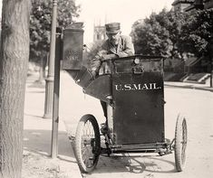 Mail delivery/pick up 1920's