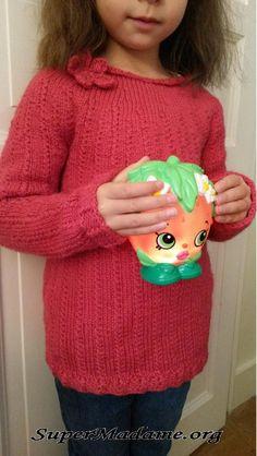 Un modèle gratuit tricot facile (pull fille 6 ans)