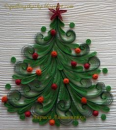 Quilled Christmas tree - I love this!!