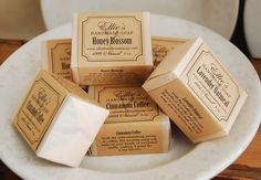 Handmade Soap Packaging | All of my 100% natural handmade herbal soaps, shea butter creams and ...