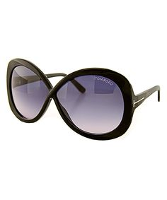 Tom Ford Black & Gray Margot Sunglasses | zulily