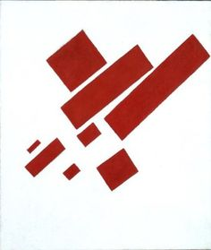 Kazimir Malevich: Suprematistische compositie (met acht rode rechthoeken), 1915, Stedelijk Museum Amsterdam