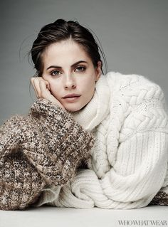 Willa Holland in Tommy Hilfiger Collection Sweater // Photo by Naj Jamai.