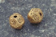 Viking age gold beads. Gotland, Sweden.