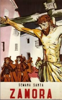 Cartel de la Semana Santa de Zamora. Capas pardas. Cristo del amparo.