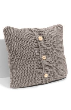 Nordstrom Chunky Knit Decorative Pillow in Rock Ridge (also available in Vanilla Ice) and on sale for 15.90 (was 48.00)!