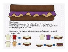 Free! PBJ Description words....80 description cards that can be used in many various ways.  The student who collects the most sandwich's at the end of the game is the winner