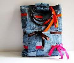 recycled denim bag - Google Search