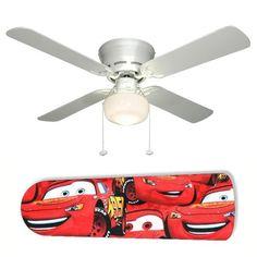 Disney Pixar Cars Lightning Mcqueen Ceiling Fan Light