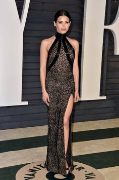 Pin for Later: 25 Looks From Last Year's Oscars That Practically Reinvented the Word Sexy Jenna Dewan Tatum Jenna Dewan Tatum looked sleek and sexy in a black halter dress with a revealing thigh slit at the Vanity Fair afterparty.