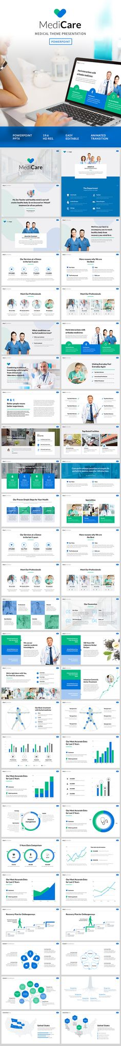 Medicare - Medical Theme Powerpoint Template - #PowerPoint Templates Presentation Templates
